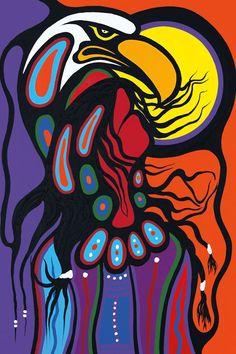 Sacred Shaman by Frank Polson. Cultural Background: Algonquin, Long Point First Nations, QC Inuit Kunst, Inuit Art, Arte Haida, Haida Art, Native American Artists, Canadian Artists, Pix Art, Art Images, Kunst Der Aborigines