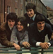 The Kinks: Original line-up in 1965. From left: Pete Quaife, Dave Davies, Ray Davies, Mick Avory.