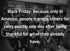 black friday because only in america - Google Search