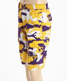 Another great find on #zulily! Minnesota Vikings Camo Shorts #zulilyfinds