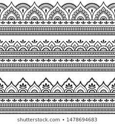 Mandala Tattoo Design, Henna Tattoo Designs, Henna Designs Easy, Beautiful Henna Designs, Mandala Art, Designs Mehndi, Henna Tattoo Hand, Henna Tattoos, Henna Tattoo Muster