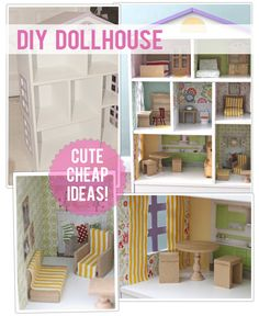 Love the use of scrapbook paper in this doll house