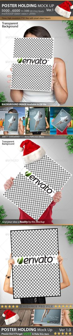 Poster & Flyer Holding Mock Up Ver 1.0 - #mockups | Displaying your art/design works
