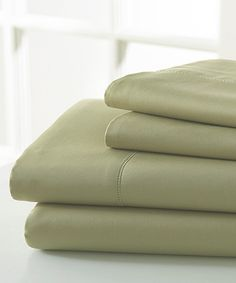 Take a look at this Sage Green 1,000-Thread Count Sheet Set on zulily today!