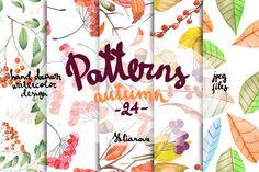 Autumn Patterns 24 by Skliarova on @creativemarket