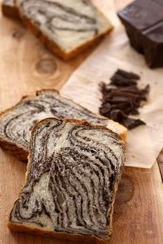 In reply to my soft chocolate sandwich loaf post, lumos tossed me a bone, and I… Bread Maker Recipes, Sourdough Recipes, Baking Recipes, Sourdough Bread, Milk Dessert, Dessert Bread, Japanese Bread, Japanese Food, Japanese Chocolate