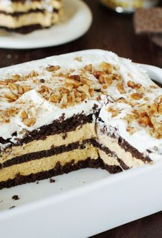 No-Bake Chocolate-Pumpkin Icebox Cake ~ chocolate & pumpkin are so ...