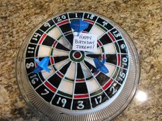 Dart Board Cake - Made it for Jeremy's 33rd Birthday