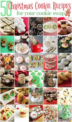 50 christmas cookie recipes for your cookie swap Christmas Snacks, Christmas Cooking, Holiday Treats, Holiday Recipes, Christmas Parties, Christmas Recipes, Dinner Recipes, Snacks Recipes, Christmas Time