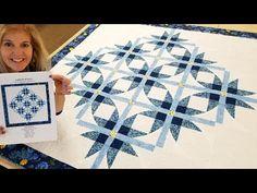 "SUPER EASY CURVES!!! - Free ""Cathedral Stars"" Quilt Pattern! - YouTube Star Quilt Blocks, Star Quilt Patterns, Star Quilts, Missouri Quilt Tutorials, Quilting Tutorials, Quilting Designs, Hunters Star Quilt, Vintage Star, Modern Cross Stitch Patterns"