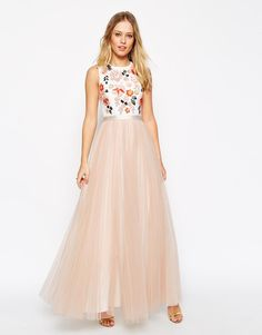 Needle & Thread | Needle & Thread Embellished Trailing Floral Maxi Dress at ASOS