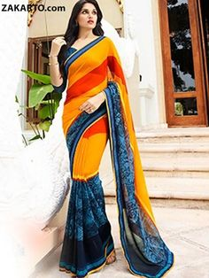 MULTI COLOR TRADITIONAL SAREE WITH LACE BORDER
