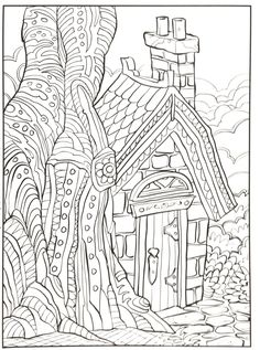 Bohemian Patio Design Adult Coloring Page Blank Coloring Pages, House Colouring Pages, Cat Coloring Page, Mandala Coloring Pages, Coloring Sheets, Coloring Books, Colorful Drawings, Colorful Pictures, Art Pages