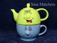 Trade Winds Tableware Funny Face Tea For One Set & Tea Pot And Cup Set | Official Elvis Tea For One Teapot and Cup Set ...