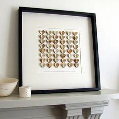 personalised large heartstrings artwork by re:made | notonthehighstreet.com