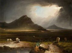 Extensive Landscape with Stonemason ~ Daniel N. Mackenzie