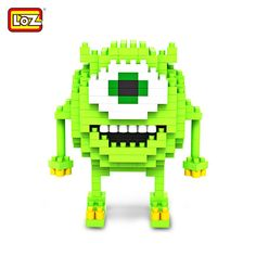 LOZ 180 Pcs Anime Monsters University Mike Building Block Creative ABS Material Kid Toy M - 9162 #hats, #watches, #belts, #fashion, #style