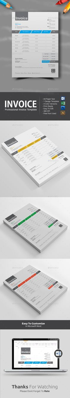 Invoice Template for SEO (Search Engine Optimization) \ Digital - customize invoice