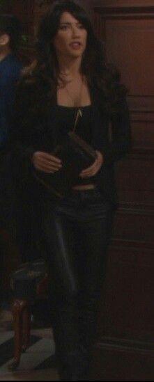 Steff Jacqueline Macinnes Wood, Bold And The Beautiful, Movie Tv, Leather Pants, Fashion, Fashion Styles, Leather Jogger Pants, Moda, Lederhosen