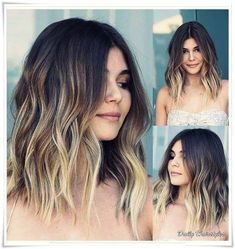 30 Stylish Medium Ombre Hairstyles Ideas For Women This Year - Modern Medium Short Hair, Medium Hair Styles, Short Hair Styles, Brown Ombre Hair, Ombre Hair Color, Sombre Hair, Curls For Long Hair, Quinceanera Hairstyles, Down Hairstyles