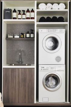 There are so many exciting small laundry room design ideas that you can apply for your small laundry room. Having a laundry room in your house is definitely a must. It ensures that you have fresh and clean clothes at… Continue Reading → Small Space Laundry Room Storage, Tiny Laundry Rooms, Laundry Room Layouts, Laundry Room Cabinets, Laundry Closet, Laundry Room Organization, Diy Cabinets, Laundry Area, Small Storage