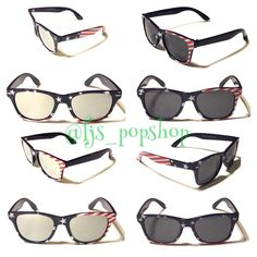 New new Patriotic Mirrored on the left!!!! Get yourself and your kids the new Patriotic sunglasses just in time for Memorial Day weekend and 4th of July.... For a limited time at 20%off now use code: ILOVEUSA  Mommy & me sets are also included in the sale!!! #fjspopshop #fjs_popshop  Shop at www.fjspopshop.com