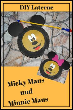 Laterne Minnie Maus Micky Maus Lantern Paperplate Pappteller Kinder Basteln  Craft Kids Laternenumzug Laternenfest