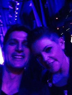 With Natalie Maines at True Colors Fund concert Dec. 6, 2014