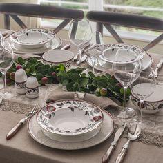86 PARÇA YUVARLAK PRESTİJ BONE YEMEK TAKIMI Centerpieces, Table Decorations, Tablescapes, Table Settings, Holiday, Beautiful, Home Decor, Ideas, Vacations