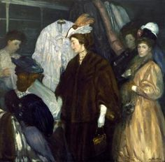 The Shoppers Artwork by William James Glackens