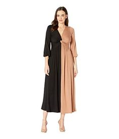 RACHEL PALLY , BLACK/DULCE COLOR BLOCK. #rachelpally #cloth Rachel Pally, Product Information, Color Blocking, Hemline, Duster Coat, Clothes, Shopping, Collection, Black