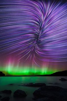 Experiencing the all-natural sensation of aurora borealis– aka Northern Lights– belongs on every vacationer's pail list. Nature Pictures, Cool Pictures, Cool Photos, Aurora Borealis, Beautiful Sky, Beautiful World, Star Trails, Natural Phenomena, Science And Nature