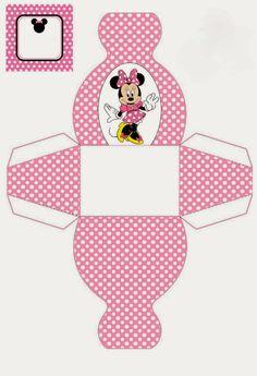 Minnie: Cajas con forma de Vestido para Imprimir Gratis.