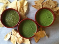 Three Cilantro Sauces