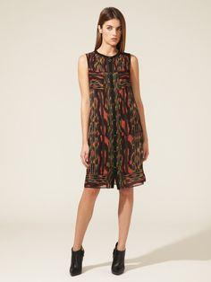 Silk Printed Pintucked Dress by Proenza Schouler on Gilt.com