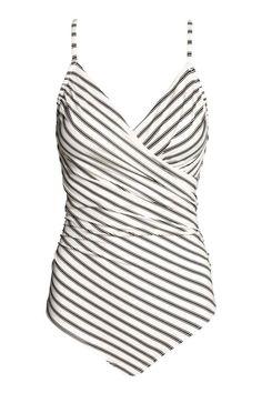 Shaping badpak - Wit/zwart gestreept - DAMES | H&M NL