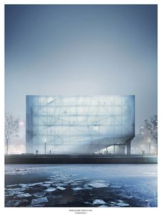 Architecture of limited time line, how it will look like under daylight will be key of design Architecture Visualization, Architecture Drawings, Futuristic Architecture, Facade Architecture, Amazing Architecture, Landscape Architecture, Architecture Illustrations, Cgi, Glass Facades