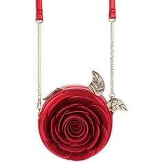 Beauty and the Beast Enchanted Rose Crossbody Bag by Danielle Nicole ($60) ❤ liked on Polyvore featuring bags, handbags, shoulder bags, white crossbody handbags, glitter handbag, glitter shoulder bag, white handbag and rose handbag