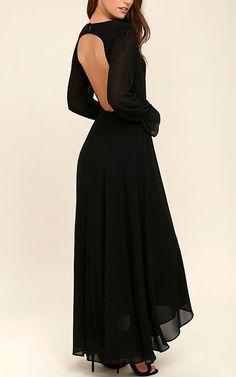 Bubbly Babe Black Backless Maxi Dress via @bestmaxidress