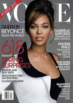 Beyonce on the cover of VOGUE