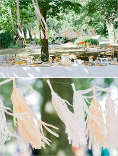 Decoración colgante para bodas ideal para días con brisa
