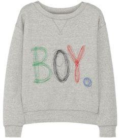 Embroidered cotton sweatshirt