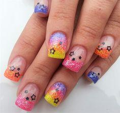 rainbow sparkles by Janayna - Nail Art Gallery nailartgallery.nailsmag.com by Nails Magazine www.nailsmag.com #nailart