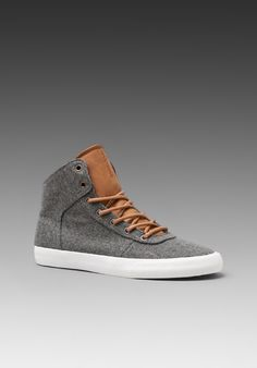 Supra grey wool shoes