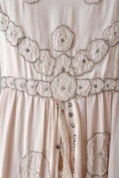 1920s lace dress detail