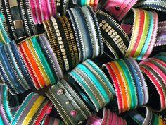 Reciclado Vintage cremallera pulsera por Re cerrarla