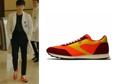 "Lee Jong Suk in ""Doctor Stranger"" Episode 15.  Walsh Lostock Orange Sneakers #Kdrama #DoctorStranger #LeeJongSuk #이종석"
