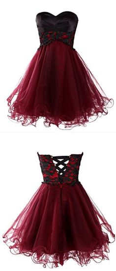 Sweetheart Homecoming Dress,Short Lace Prom Dress,A Line Prom