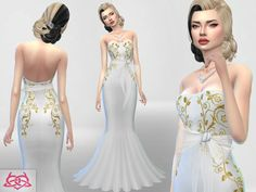 Wedding Dress 4 RECOLOR 1 (Needs mesh) 9 recolors Need mesh, look at recommended. Your game needs to be updated with the last patch from Paraguay with love!!! http://www.thesimsresource.com/downloads/1376183