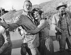 Maureen O'Hara and John Wayne | Maureen O'Hara and John Wayne in McClintock (1963)The studio thought ...
